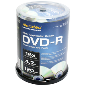 16x DVD-R Media - 4.7GB - 120mm Standard - 100 Pack