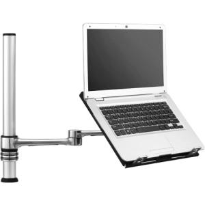"Visidec Focus Notebook Tray-Notebook Articulating Arm - For Notebook - 18.4"" Screen Support - 8 kg Load Capacity - Aluminum, Polymer - Polished Silver"