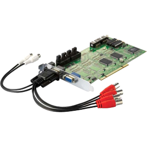 LevelOne FCS-8005 4-Port Analog Camera Capture Card - PAL, NTSC