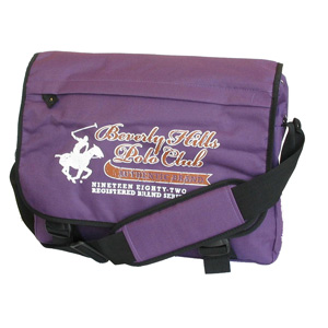Beverly Hills Polo Club The Timekeeper Messenger Bag - Purple