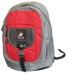 Beverly Hills Polo Club Backpack - Red/Gray