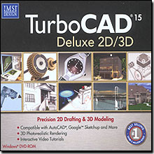 TurboCAD 15 Deluxe 2D/3D