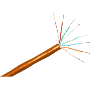 ClearLinks 1000FT Cat. 5E 350MHZ Orange Solid PVC UTP Bulk - Category 5e - 1000ft - Bare Copper - Bulk - Solid - Orange