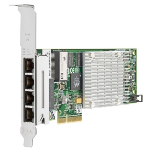 HP NC375T PCI Express Quad Port Gigabit Server Adapter - PCI Express - 4 x RJ-45 Network - 10/100/1000Base-T - Internal - Low-profile