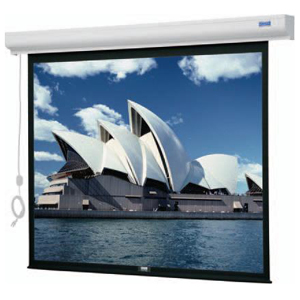 "Da-Lite Designer Cinema Electric Projection Screen - Matte White - 106"" Diagonal"