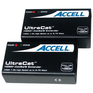 Accell UltraCat Super Video Console/Extender - 1 Input Device - 1 Output Device - 164 ft Range - 4 x Network (RJ-45) - 1 x HDMI In