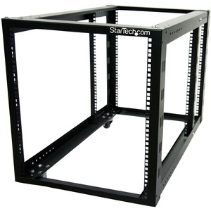 StarTech.com 12U 4 Post Server Equipment Open Frame Rack Cabinet w/ Adjustable Posts & Casters