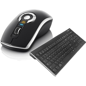 Gyration Air Mouse Elite with Low Profile Keyboard - Keyboard - Wireless - 104 Keys - USB - Mouse - Wireless - Optical - USB