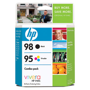 HP 95/98 Combo Pack Color Ink Cartridge - Black, Color - Inkjet - 330 Page Color, 420 Page Black