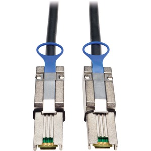 Tripp Lite S524-02M External SAS Cable - SFF-8088 Male Serial - SFF-8088 Male Serial - 6.56ft - Black