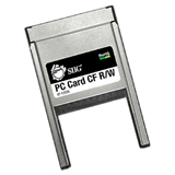 SIIG JJ-PC0112-S1 CompactFlash (CF) Card to PC Card Adapter - CompactFlash Type I, CompactFlash Type II, Microdrive