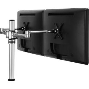 "Visidec VF-AT-D/TAA Desk Mount Double Articulated Arm - 12"" to 24"" Screen Support - 17.50 lb Load Capacity - Aluminum - Silver"
