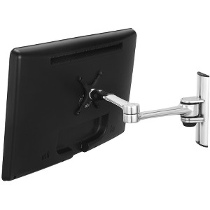"Visidec VF-AT-W/TAA Wall Mount Articulated Arm - 12"" to 24"" Screen Support - 17.50 lb Load Capacity - Aluminum - Silver"