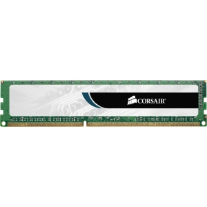 Corsair Value Select 4GB DDR3 SDRAM Memory Module - 4 GB (2 x 2 GB) - DDR3 SDRAM - 1333 MHz DDR3-1333/PC3-10600 - Non-ECC - Unbuffered - 240-pin DIMM