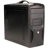 Apex TX-381-C System Cabinet - Micro Tower - Black 8 x Bay - 1 x Fan