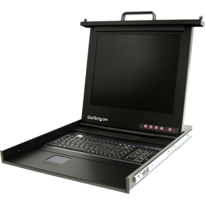 StarTech.com 1U 17 Rackmount LCD Console - 1 Computer(s) - 17 Active Matrix TFT LCD - 1 x DB-15 Video