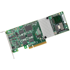 LSI Logic 9750-4i 8-port SATA RAID Controller - Serial ATA/600, Serial Attached SCSI (SAS) - PCI Express x8 - Plug-in Card - RAID Supported - 0, 1, 5, 6, 10, 50 RAID Level - 512 MB