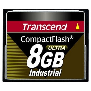 Transcend 8GB Ultra Speed Industrial CompactFlash (CF) Card - 8 GB