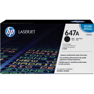 HP 647A Toner Cartridge - Black - Laser - 1 Each