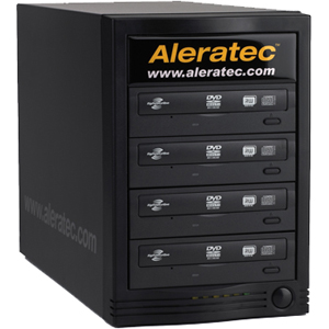 Aleratec 1:4 CD/DVD Duplicator with LightScribe - Standalone/PC Connect - DVD-Writer - 20x DVD+R, 20x DVD-R, 8x DVD+R, 8x DVD-R, 12x DVD-RAM, 40x CD-R - 32x CD-RW - USB