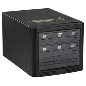 Aleratec Copy Cruiser 1:2 CD/DVD Duplicator with LightScribe - Standalone/PC Connect - DVD-Writer - 20x DVD+R, 20x DVD-R, 8x DVD+R, 8x DVD-R, 12x DVD-RAM, 40x CD-R - 32x CD-RW - USB