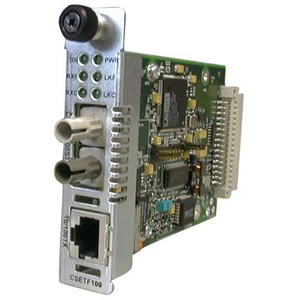 Transition Networks Point System CSETF1011-205 Media Converter - 1 x RJ-45 , 1 x ST Duplex  - 10/100Base-TX, 100Base-SX