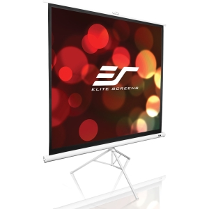 "Elite Screens Tripod Portable Projection Screen - 70"" x 70"" - Matte White - 99"" Diagonal"