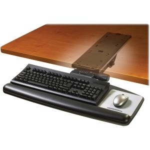 3M Easy Height Adjustable Keyboard Tray - 25.5&quot; x 12.0&quot; - Black