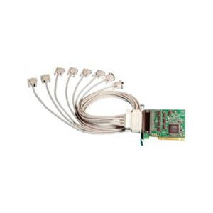 Brainboxes 8 Port RS-232 Universal Multiport Serial Adapter - Universal PCI - 8 x DB-9 Male RS-232 Serial Via Cable - Plug-in Card