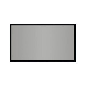 "AccuScreens SoundScreen Fixed Projection Screen - 40"" x 72"" - High Contrast Gray - 82"" Diagonal"