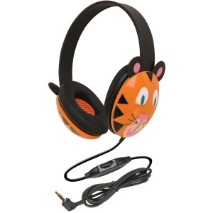 Ergoguys Kids Stereo PC Tiger Design Headphone - Connectivity: Wired - Stereo - Over-the-head