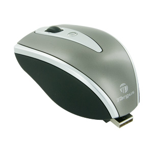 Targus Stow-N-Go Retractable Optical Notebook Mouse - AMU40US