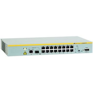 Allied Telesis AT-8000S/16-10 Managed Ethernet Switch - 16 x 10/100Base-TX, 1 x 10/100/1000Base-T