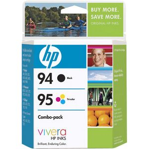 HP 94/95 Ink Cartridges - Black, Color - Inkjet - 450 Page Black, 260 Page Color - 1