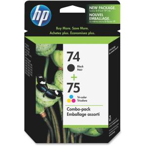 HP 74/75 Black /Tri-Color Ink Cartridge - Color, Black - Inkjet - 170, 200