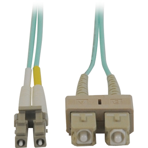 Tripp Lite Aqua Duplex Fiber Patch Cable - SC Male - LC Male - 9.84ft