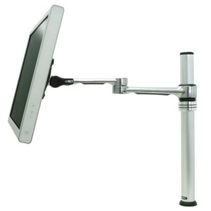 Visidec Articulated Monitor Arm Single Display Desk Mount - Steel, Aluminum, Plastic - 17.5 lb - Polished Silver