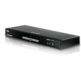 Aten CS1644 Dual View KVM Switch - 4 x 1 - 4 x Type B USB, 8 x DVI-I Video, 4 x Mini-phone Stereo Speaker, 4 x Mini-phone Microphone