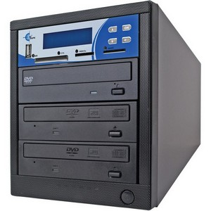 EZdupe MM02PIB 1:2 CD/DVD Duplicator - DVD-ROM, DVD-Writer - 20x DVD+R, 20x DVD-R, 56x CD-R - 8x DVD+R/RW, 8x DVD-R/RW, 32x CD-RW - USB