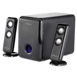 Compucessory Black 18 Watt 2.1 Channel Portable Speaker System - 30590