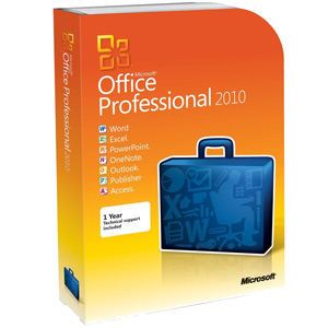 Microsoft Office 2010 Professional (Install on up to 2 PCs)