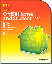 Microsoft Office Home and Student 2010 (3 User Family Pack)