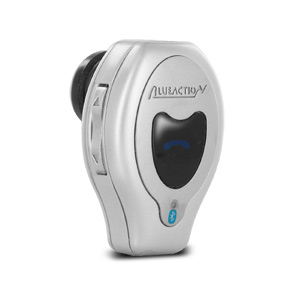 BlueAction Universal Mini Bluetooth Headset - Silver (BT-BAE300)
