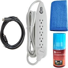Belkin PureAV HDTV Essentials Kit with HDMI Cable, Surge Protector and Cleaning Spray