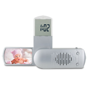 Radio Alarm Clock With Photo Frame