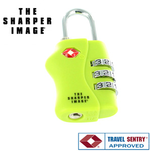 Sharper Image TSA 3-Dial Combination Lock
