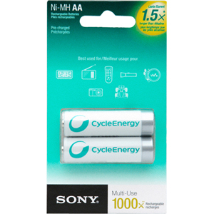 Sony NHAAB2RN General Purpose Battery - 1000 mAh - AA - Nickel Metal Hydride (NiMH)