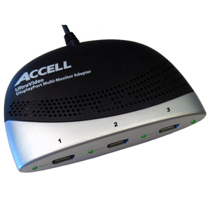 Accell - for Monitor - 3.75 ft - 1 x DisplayPort - 3 x DisplayPort Female