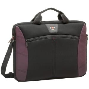 "SwissGear SHERPA GA-7500-01F00 Slimcase - Sleeve - 16"" Screen Support - 13"" x 2"" x 16.5"" - Neoprene, Polyester - Burgundy"