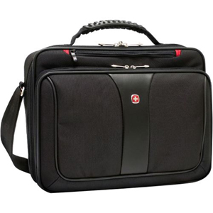 SwissGear LEGACY WA-7640-02F00 Notebook Case - Polyester, Vinyl - Black 16&quot; Screen Support - 15&quot; x 4.50&quot; x 17&quot;